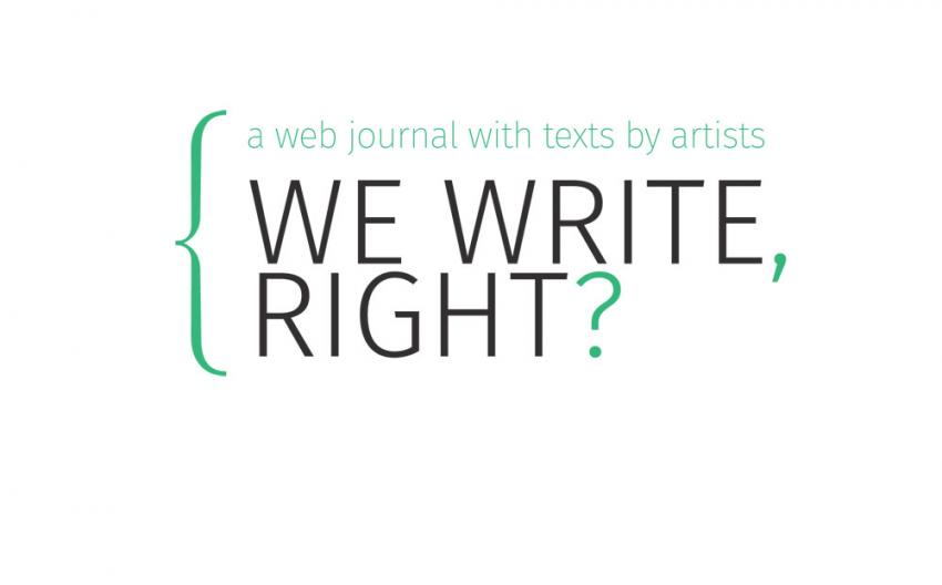 We write, right?